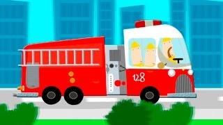 Машинки мультфильмы - Интересный транспорт в городе кривых зеркал.