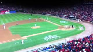 David Freese RBI Game Tying Triple World Series - Game 6 - Cardinals vs. Rangers - 10/27/2011 - MLB