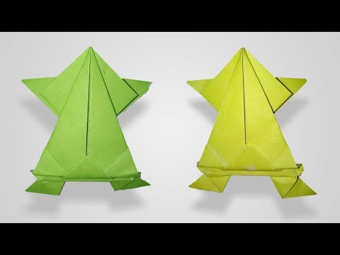 How to Make a Paper Frog that Jumps High and Far   Paper Jumping Frog   Art Paper Craft  