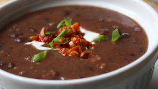 Quick Black Bean Soup Recipe - Easy Bacon Black Bean Soup