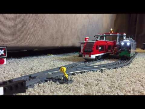 Custom LEGO MBTA Green line Train