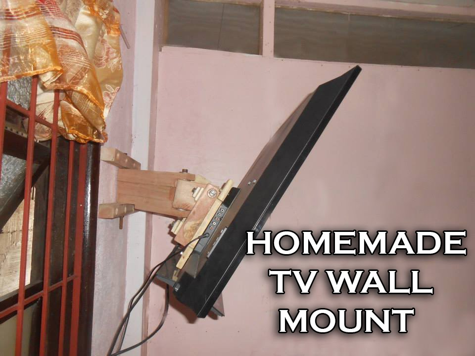 Homemade TV Wall Mount - YouTube