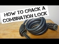Cover image Cracking a combination lock
