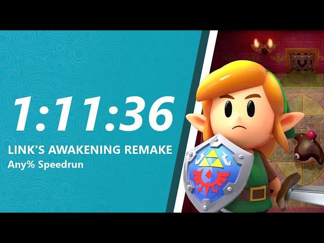 Link's Awakening Remake Any% Speedrun in 1:11:36
