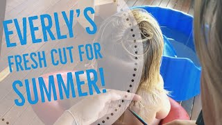 Everly's fresh cut for summer | iPhone | GoPro quik