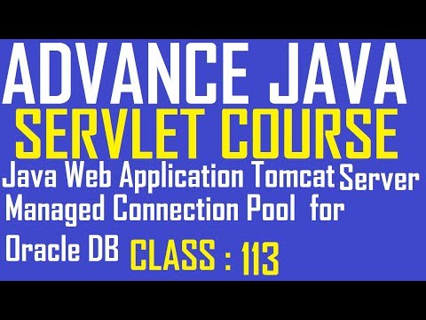 113 Java Web Application Tomcat Server Managed Connection Pool For Oracle Database | Adv Java