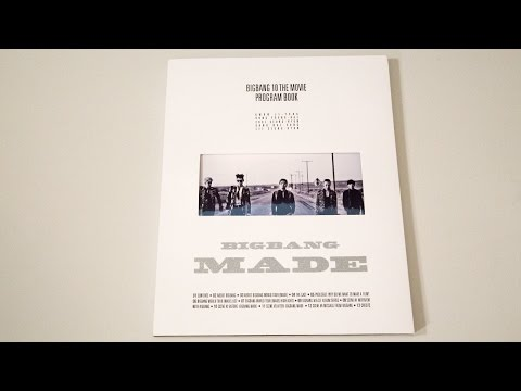 Unboxing | Big Bang 10 The Movie Program Book (MADE)