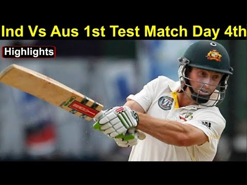 Ind Vs Aus 1st Test Day 4th Highlights: Australia 4 down in chase of 323 Runs | Headlines Sports