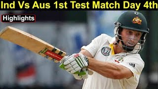 Ind Vs Aus 1st Test Day 4th Highlights: Australia 4 down in chase of 323 Runs   Headlines Sports