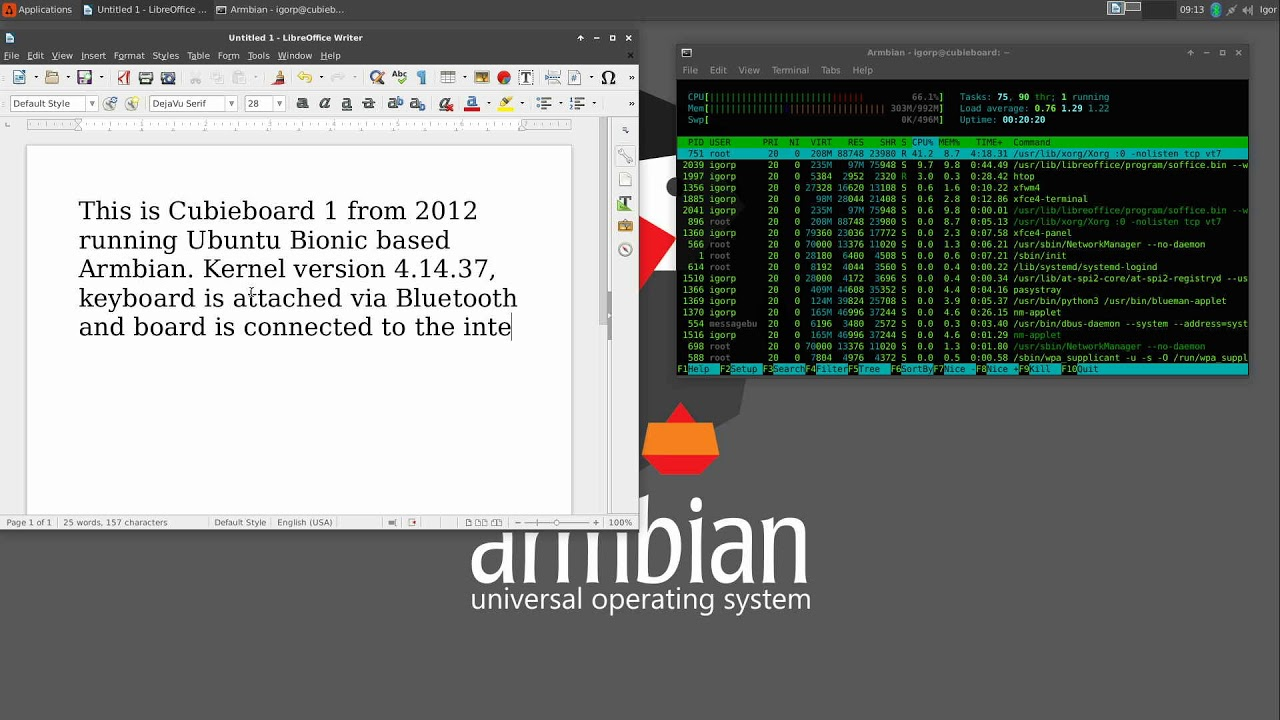 Armbian Bionic desktop on Cubieboard 1 - General chit chat - Armbian