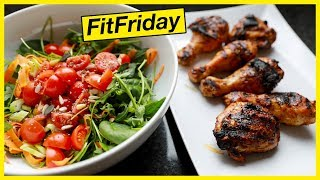 MY GO-TO WEIGHT LOSS MEAL: BBQ Chicken & Salad #FitFriday
