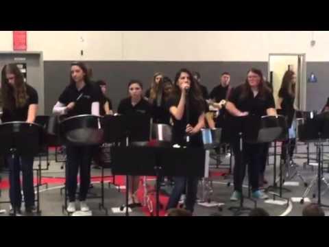 Tomales High School Pan Band performing Enter Sandman by Metalica