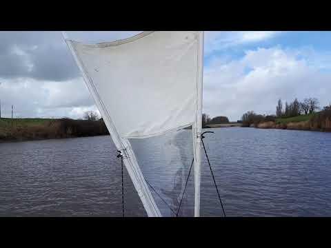 Sailing the pedal Cambridge kayak sailfish with home made sails