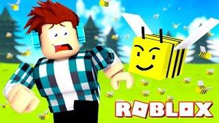 A BEE STUNG ME! -(ROBLOX BEE SIMULATOR)