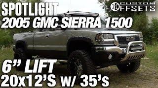 "Spotlight - 2005 Gmc Sierra, 6"" Lift, 20x12 -44's And 35s"