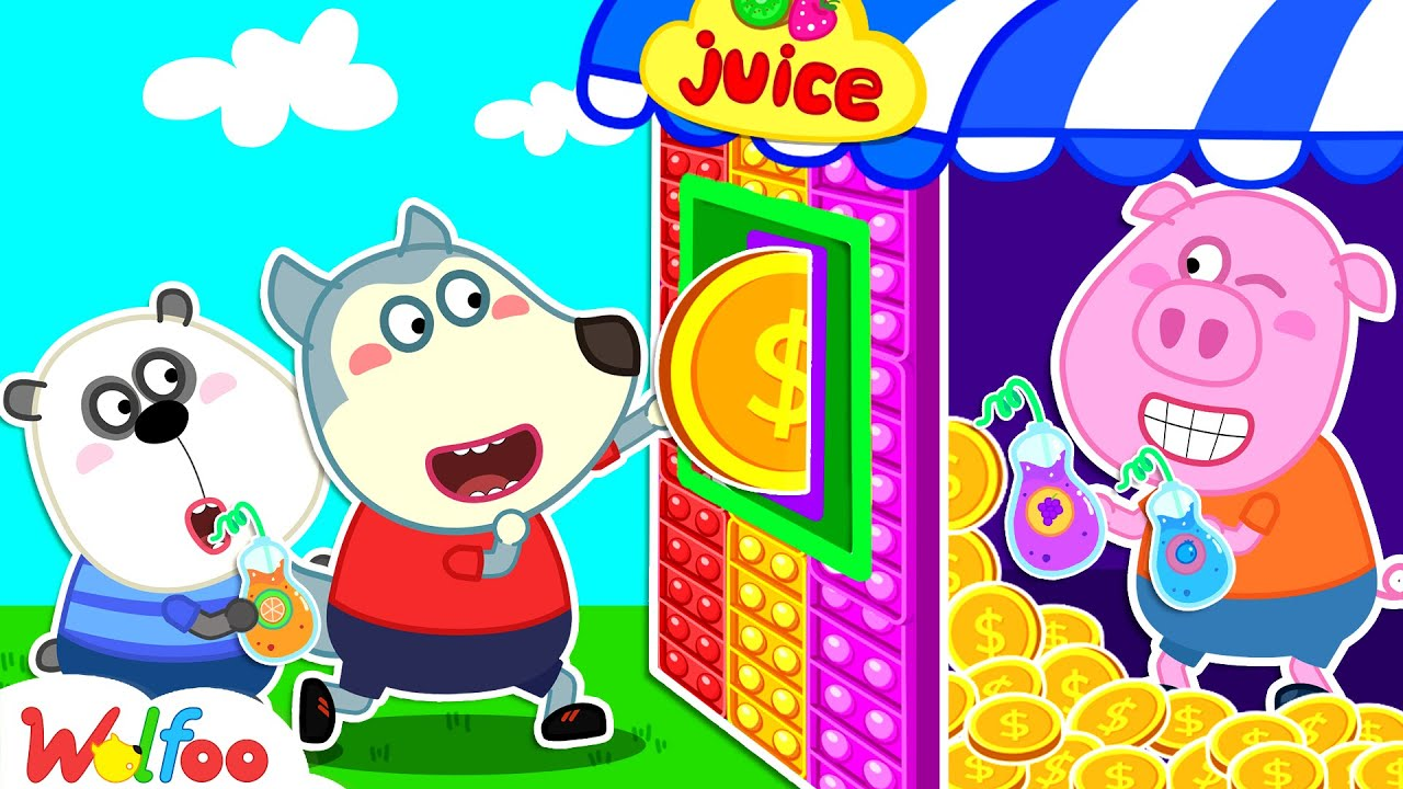 Download Wolfoo Pretend Play with Colorful Pop It Vending Machine Toy for Kids   Wolfoo Channel