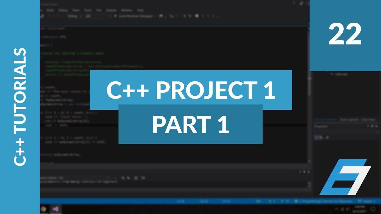C++ Programming Tutorials - 22 - C++ Project 1 Finite State Machine Part 1  -Eric Liang