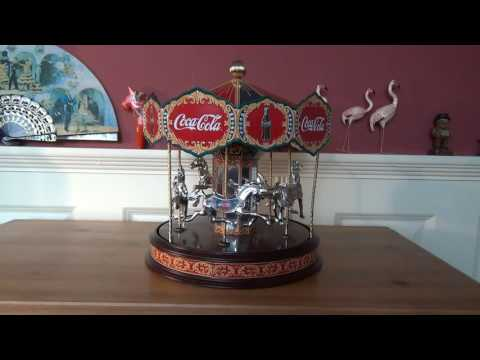 JaWo Franklin Mint Coca Cola horse carousel musical box