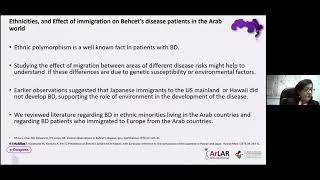 Wafa Madanat || Behçet's Disease in the Arab World