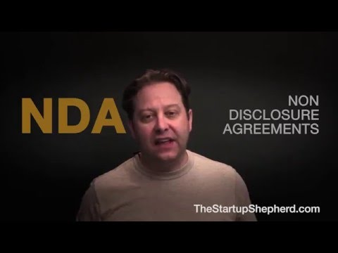 What is a Non Disclosure Agreement (NDA) ? - The Startup Shepherd