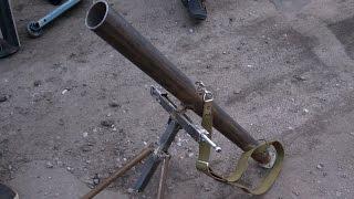 Как сделать страйкбольный миномет. DIY в гараже. How to make an airsoft mortar. DIY in the garage.
