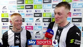The Longstaff brothers give heartwarming post match interview following victory over Man Utd!