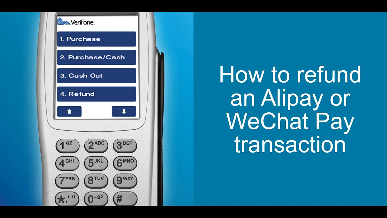 How To Do An Refund an Alipay or WeChat Pay Transaction | Eftpos NZ