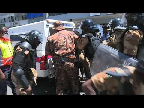 Police arrests Journalists and protestors in Windhoek