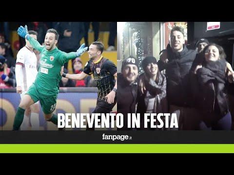 """Benevento in festa dopo il pareggio con il Milan: """"Una liberazione, ora ci riprenderemo"""""""