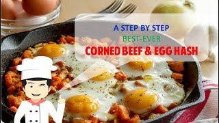 CLASSIC AMERICAN CORNED BEEF AND EGG HASH