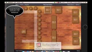 Basic run through of touch bistro including how to clock in/out merge tables transfer check out place orders edit o...