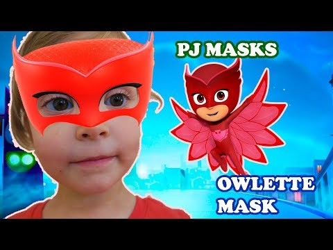 Kids DIY Owlette mask. Red pj Mask.