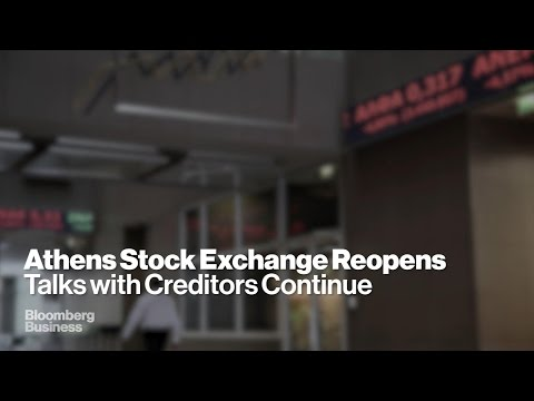 Athens Stock Exchange Reopens, Stocks Sink
