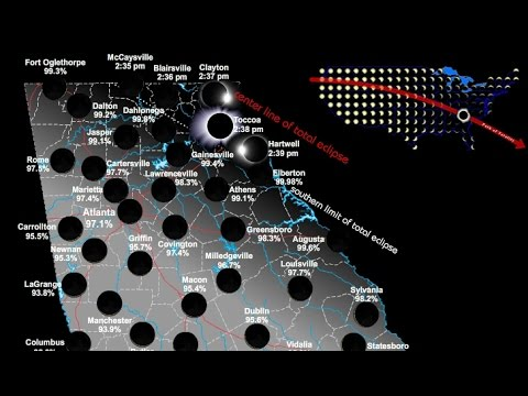Total Eclipse Of The Sun On August Georgia YouTube - Georgia map for solar eclipse