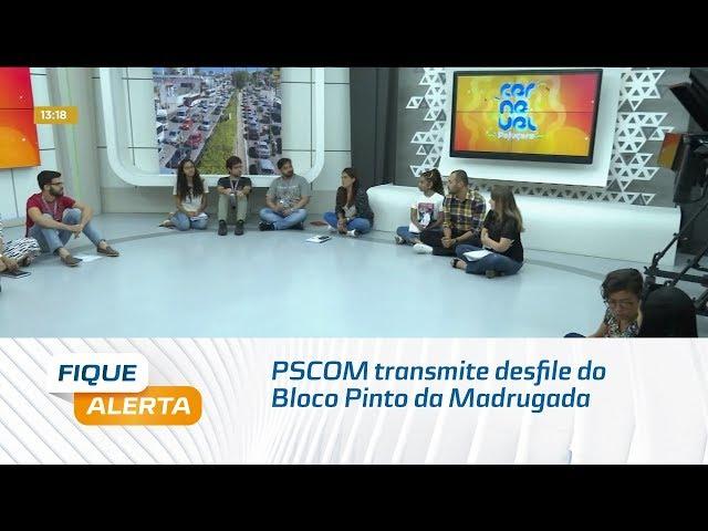 Carnaval Multiplataforma 2020: PSCOM transmite desfile do Bloco Pinto da Madrugada