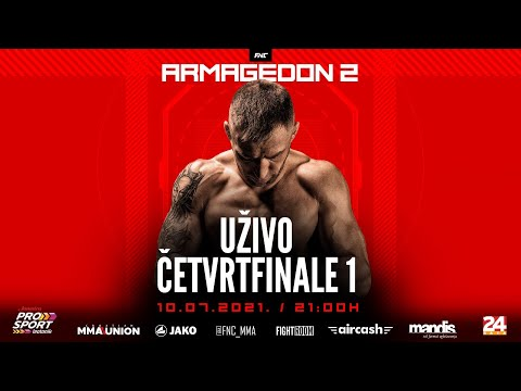 Live link to a regional MMA competition FNC Armageddon, from the Balkans, held in Croatia