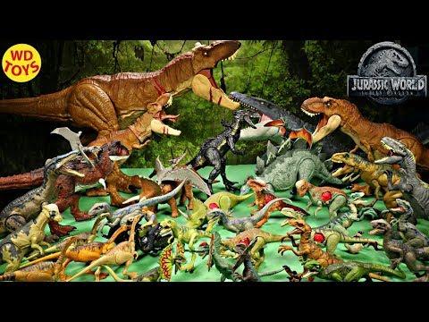 New 47 Jurassic World Fallen Kingdom Dinosaur Toys Mattel  Scan Codes QR Codes IOS, Android WD Toys