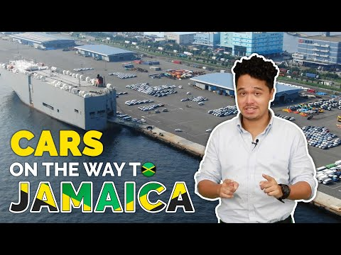Cars on the way to JAMAICA / Kingston Port