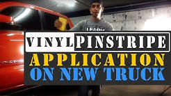 Vinyl Pinstripe Application on New Truck - And Your Auto Body Questions Answered