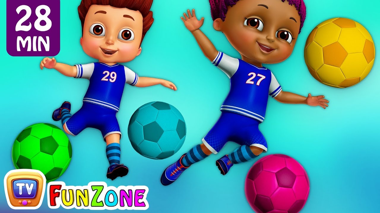 Kids Play Football Match and in the ChuChu TV Funzone Stadium – Football Goals Funny Moments