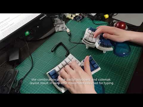 typing on the dactyl keyboard - YouTube