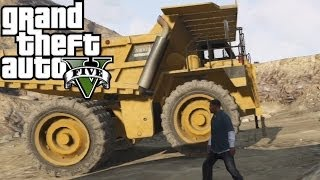 GTA 5- Secret Car location #1-DUMP TRUCK!