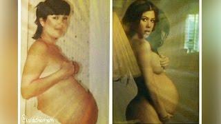 Like Mother Like Daughter: Kourtney Kardashian Posts Nude Pregnant Pic