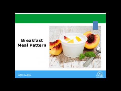 CACFP Meal Pattern, May 2017