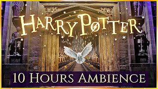 10 Hours ⚡ HARRY POTTER ASMR Ambience ⋄ Hogwarts, The burrow, Privet drive & More ✨ Relax & Study  📚