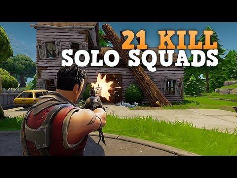 21 KILL SOLO SQUAD WIN! (PS4 Pro) Fortnite Battle Royale