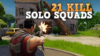 21 KILL SOLO SQUAD WIN! (PS4 Pro) Fortnite Battle Royale