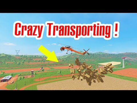 Faming Simulator 17: Crazy Transporting !!! Foresty and Bale Transport with  Gryphon Helicopter