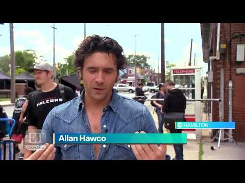 On Set Of Caught With Paul Gross & Allan Hawco