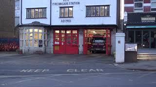 London Fire Brigade- West Hampstead Pump(57reg Mk2 Atego) Turnout January 2019